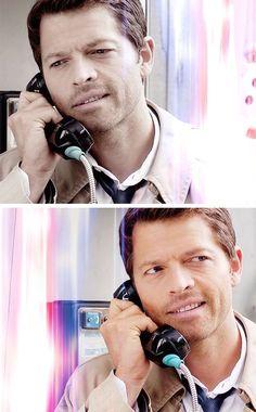 Castiel.  Misha has seriously beautiful teeth, yo.