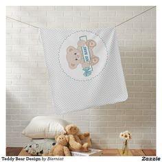 Teddy Bear Design Receiving Blanket