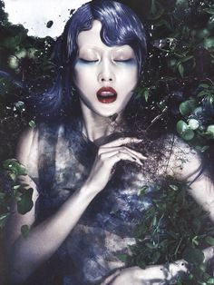 """Amore Ophelia"", Hyea-Won Kang for Vogue Korea July 2013 -- jeez, yet another KOphelia shoot. Love the colour palette though."