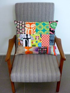 love this patchwork cushion!