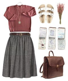 """i"" by septemberburns ❤ liked on Polyvore featuring River Island, Birkenstock, Forever 21 and GUESS"