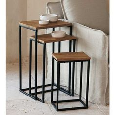 HybridNesting Table set of 3 por TheFabShop en Etsy, $299.00