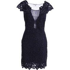 Alberto Makali Womens Lace Mesh Inset Cocktail Dress