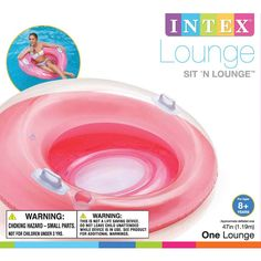 Temperate Sit N Float Inflatable Lounge Colorful Floating Loungers Chair Float Activity & Gear