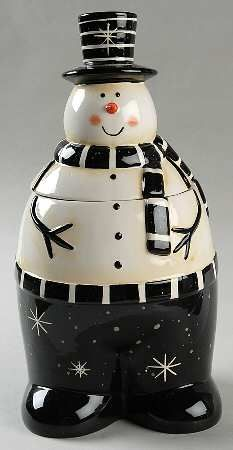 Christmas Snowman Cookie Jar by Certified International