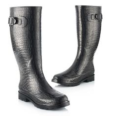 Croco  BE ONLY Rainy Day Fashion, Rainy Days, Rubber Rain Boots, Girly, Shoes, Style, Women's, Swag, Zapatos