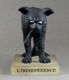 Figur schwarze Katze L'indifference