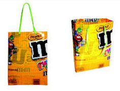 gift bags from candy wrappers