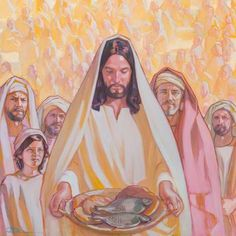 lisa aerin collett | An oil painting by Rose Datoc Dall, depicting Jesus offering the ...