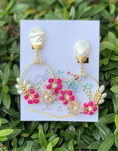 Rustic Jewelry, Cute Jewelry, Handcrafted Jewelry, Wire Wrapped Earrings, Beaded Earrings, Earrings Handmade, Wire Crafts, Jewelry Crafts, Hand Work Design