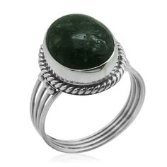 BALIHANDCRAFTEDSTERLING SILVER RING HANDCRAFTED BALI LEGACY COLLECTION-SIBERIAN SERAPHINITE RING SET IN PURE 925-STERLING SILVER/NICKEL FREE-TCW-7.660 BALI LEGACY COLLECTION Jewelry Rings