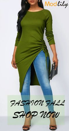 trendy tops for women online on sale Curvy Fashion, Plus Size Fashion, Mode Xl, Classy Outfits, Cute Outfits, Green Dress Outfit, Trendy Tops For Women, Mein Style, Latest African Fashion Dresses