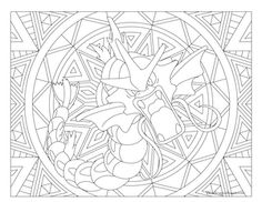 Gyarados Pokemon Coloring Page