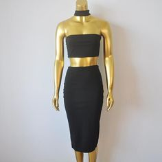 Womens Two Piece Bodycon Dress Backless Vintage Bandage Dress