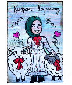 Kurban bayramınız mübarek olsun   Daha nice bayramlara ❤️ #kurban #bayram #kurbanbayrami #hijab #eid #illüstrasyon #kuzu #basortu
