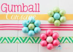 She's {kinda} Crafty: 20 Minute Tuesday | Gumball Corsage