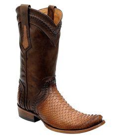Cuadra Men's Genuine Python Traditional Boot