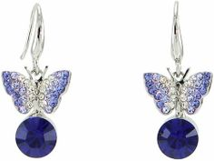 Rhinestones Sleeping Butterfly Round Crystal Hook Earrings Amethyst Purple Arco Iris Jewelry. $11.95. Hypoallergenic Hook. Come with a free gift box. Money-back Satisfaction Guarantee. Available in Blue and Purple Colors. Rhodium plated (Tarnish-free)