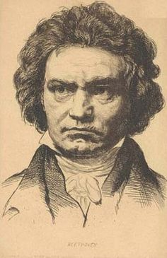 Ludwig van Beethoven, a pen and ink drawing Romantic Composers, String Quartet, Music Composers, Opera Singers, Music People, Music Theory, Drawing Poses, Piano Music, Classical Music