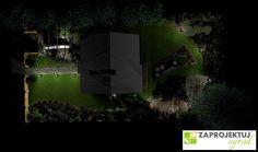 Wizaualizacją Nocą - projekt małego ogrodu. http://www.zaprojektuj-ogrod.pl/pl/OrderGardenProject/Index