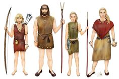 Stone Age (Mesolithic) family by Carin Carlsson Character Bio, Language And Literature, Iron Age, Prehistory, Working With Children, Historical Clothing, Public School, Social Studies, Two Piece Skirt Set