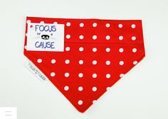 Minnie!  Red with White Polka Dots Dog Bandana, Slip Over the Collar Dog Bandana, Slide Over Collar, Pet, Collar Accessory Focus for a Cause by FocusforaCause on Etsy