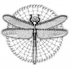 Efie goes Zentangle-this would be cool on a canvas, with wings hanging off, maybe colored in