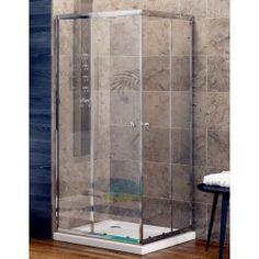 Porta doccia 100105cm con profili in alluminio. Una