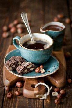 tasse à café originale bleu foncé pour les aimants du cafe