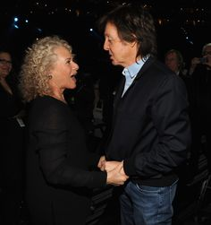 MusiCares Person Of The Year Carole King with Paul McCartney at the 56th Annual GRAMMY Awards on Jan. 26 in Los Angeles