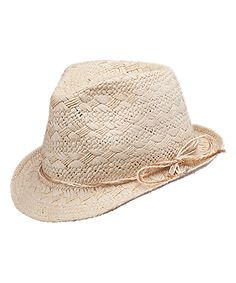 Another great find on #zulily! Peter Grimm Hats Natural Craven Fedora by Peter Grimm Hats #zulilyfinds