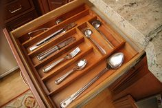 Mahogany Expandable Flatware Drawer Organizer  Bring order to cluttered kitchen drawers  75% OFF