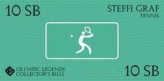Verdiene einen 20 SB Bonus mit den Swagbucks #Sammelkarten - Olympische Legenden! (August2016) Steffi Graf für 10 SB