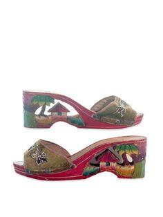 Vintage Hand Carved Shoes