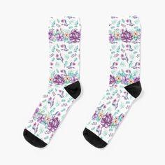 Purple Peonies, My Socks, Floral Tie, Printed Shirts, Looks Great, Watercolor, Art Prints, Clothes For Women, Elegant