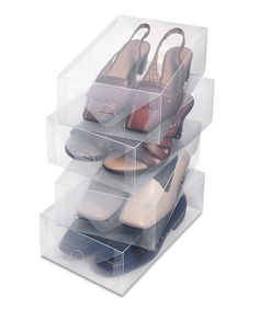 Take a look at this Clear Vue Women's Shoe Box - Set of Four today!