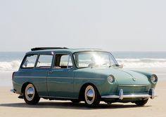 VW Squareback by iPawdd, via Flickr Mine was purple and had bumper stickers and flowers on it.  And sometimes it ran.