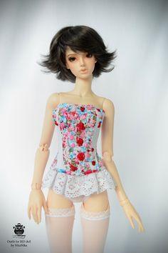 BJD doll dress corset SD.