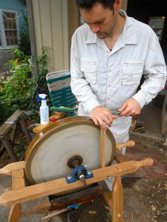 A large sandstone grinding wheel seemed so steriotypical of the ideal 18th…