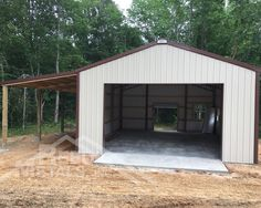 Don't waste any more time looking for the perfect shop. Get your custom pole barn from Reed's Metals in 10 days or less! We'll even send a Preferred Contractor to install it for you! Pole Barn Shop, Building A Pole Barn, Quonset Homes, Boat Shed, Barn Apartment, Bob The Builder, Garden Studio, Barn Plans, Garage Shop