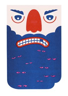 Risograph Posters by Harvey Hartley, via Behance #poster #illustration