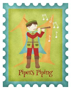 Eleven Pipers Piping By Anita Van Hal Twelve Days Of Christmas, Christmas Morning, Epiphany, Needlepoint, Christianity, Coloring Pages, Projects To Try, Embroidery, Illustration