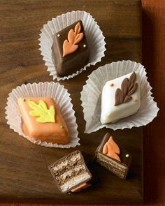 Fall themed petits fours
