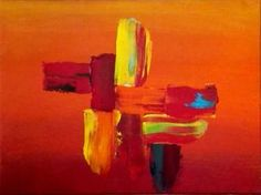 Red Sunset 2. Red Sunset, Saatchi Art, Original Paintings, Abstract Art, Canvas, Outdoor Decor, Tela, Canvases