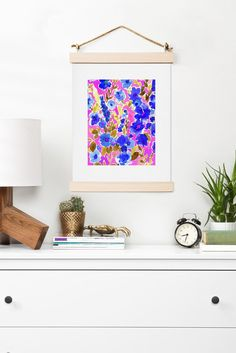Amy Sia Isla Floral Pink Blue Art Print | DENY Designs Home Accessories