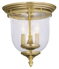 Livex Lighting Legacy Polished Brass Ceiling Mount 5021-02