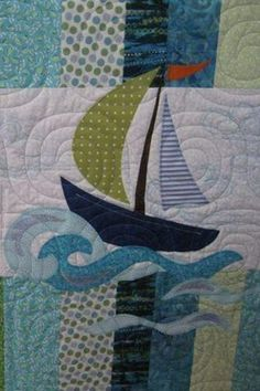 Newest Sailor Sailboat Applique - via @Craftsy