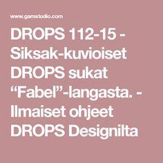 """DROPS 112-15 - Siksak-kuvioiset DROPS sukat  """"Fabel""""-langasta. - Ilmaiset ohjeet DROPS Designilta"""