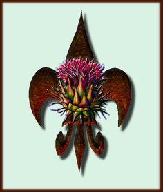 fleur de lis and thistle