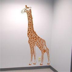 Wall Decal Giraffe Nursery Vinyl Wall Art by ChuckEByrdWallDecals, $42.50
